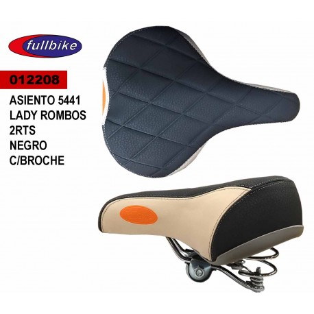 (012208) ASIENTO 5441 LADY ROMBOS 2 RTS NEGRO CON BROCHE
